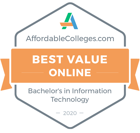 Best Value Online Bachelors Degree in IT Award