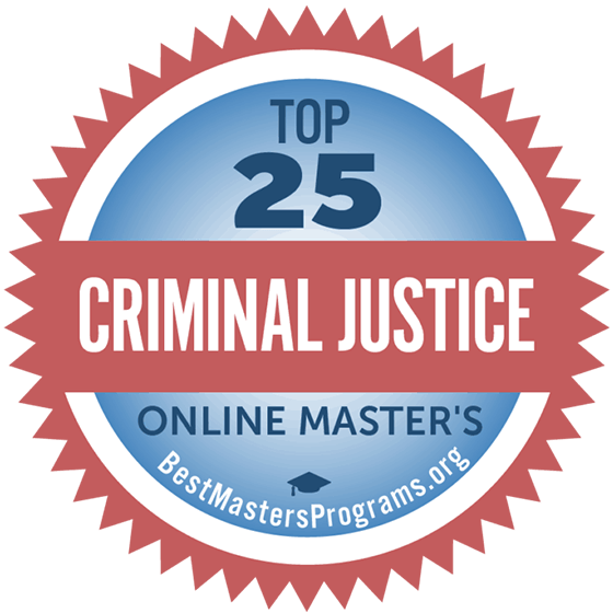 Best Masters Programs for Criminal Justice Award