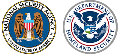 National Security Agency and Department of Homeland Security Badges