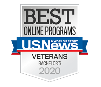 Best Online Bachelor's Program for Veterans in the Nation by U.S. News & World Report