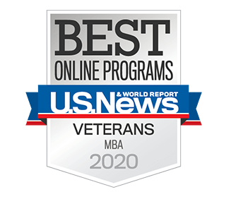 Best Online MBA Program for Veterans in the Nation by U.S. News & World Report